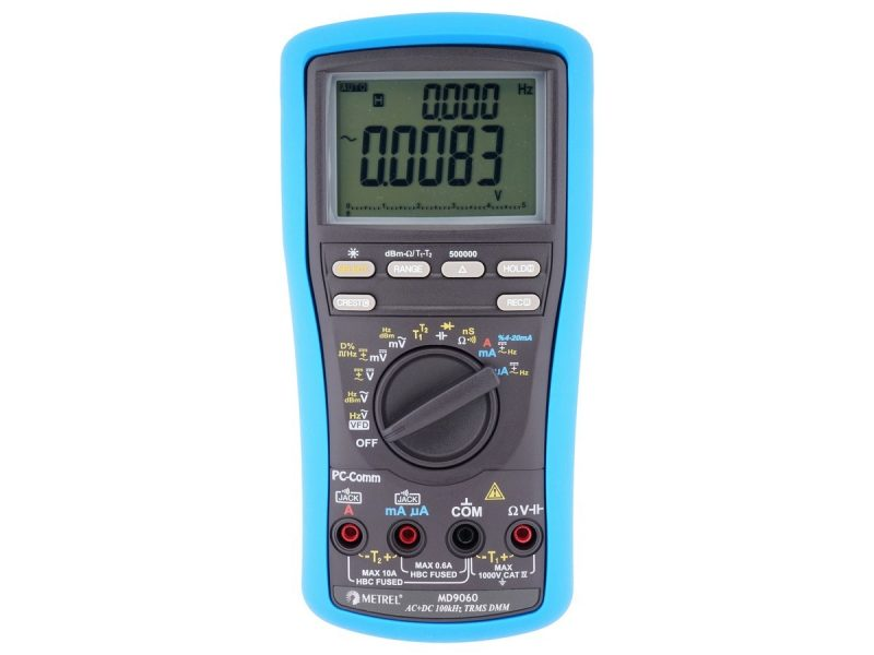 MD 9060 TRMS, 500.000 counts LCD, 100k Hz Voltage Bandwidth Heavy Duty Industrial Multimeter
